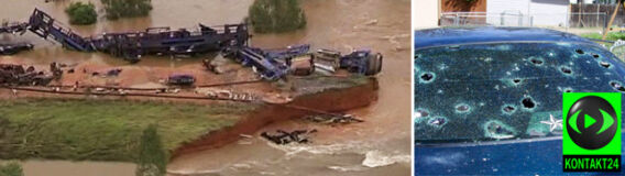 Cyklon wykoleił pociąg w Australii. Ulewy, trąby powietrzne, skażenie