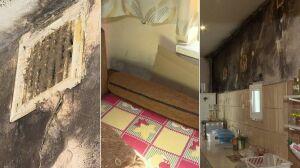 Warunki jak w XIX wieku. Grzyb pożera ścianę od podłogi po sufit