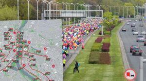 Biegacze przejmują ulice. Maraton na nowej trasie