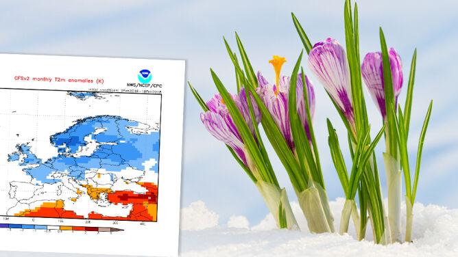 Amerykańska prognoza na marzec dla Europy: <br />może być chłodniej niż zazwyczaj