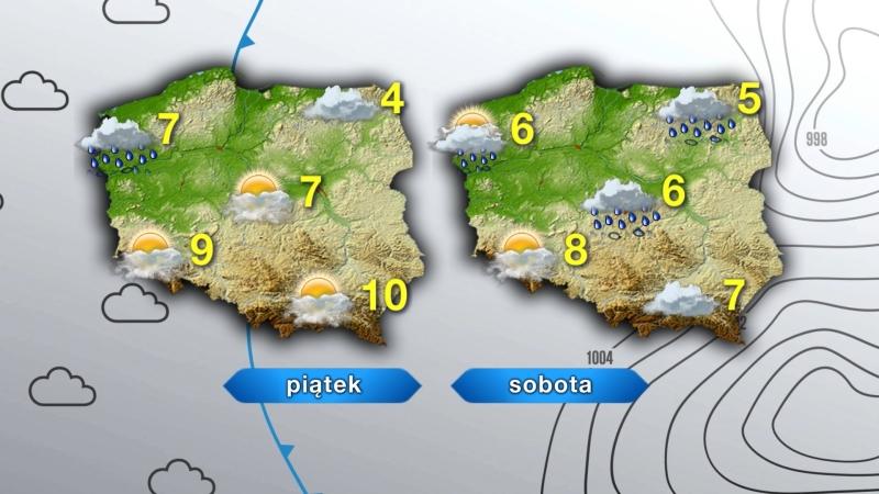 Pogoda w piątek i sobotę