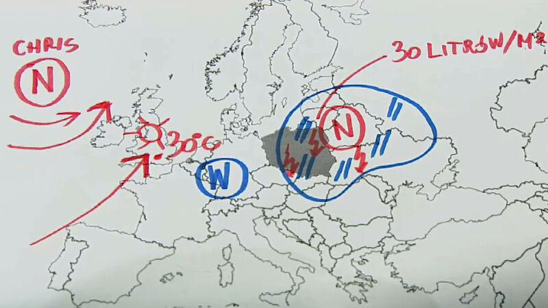 Niż znad Białorusi kształtuje pogodę