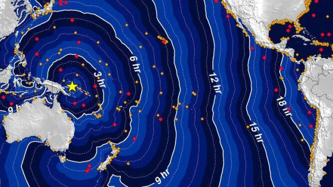 Mocne trzęsienie ziemi w Papui-Nowej Gwinei. Pojawiły się fale tsunami