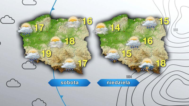 Pronoza pogody na sobotę i niedzielę