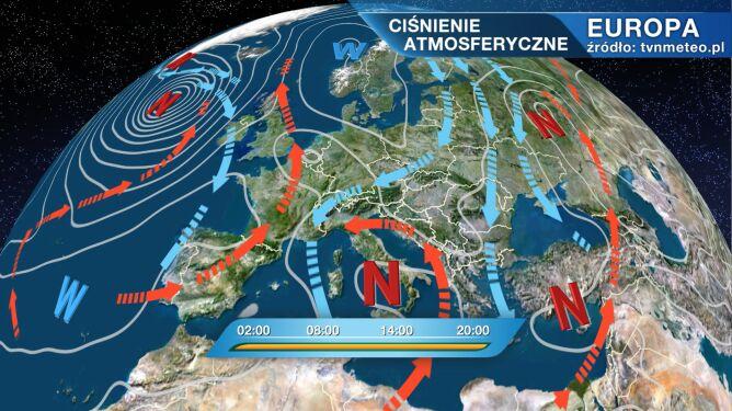 Wyż Jennifer kształtuje pogodę w kraju