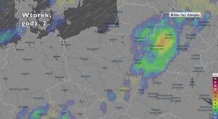 Prognozowane opady w następnych dniach (Ventusky.com)