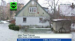 Cofka i podtopienia na Pomorzu i Żuławach (TVN24)
